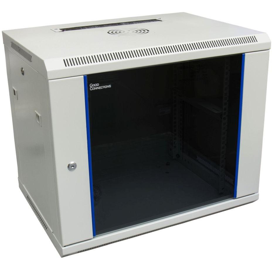 GC-R0004 armario rack 9U Bastidor de pared Azul, Gris, Armario IT