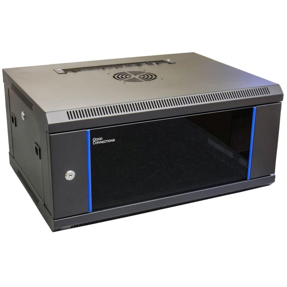GC-R0005 armario rack 4U Bastidor de pared Negro, Azul, Armario IT