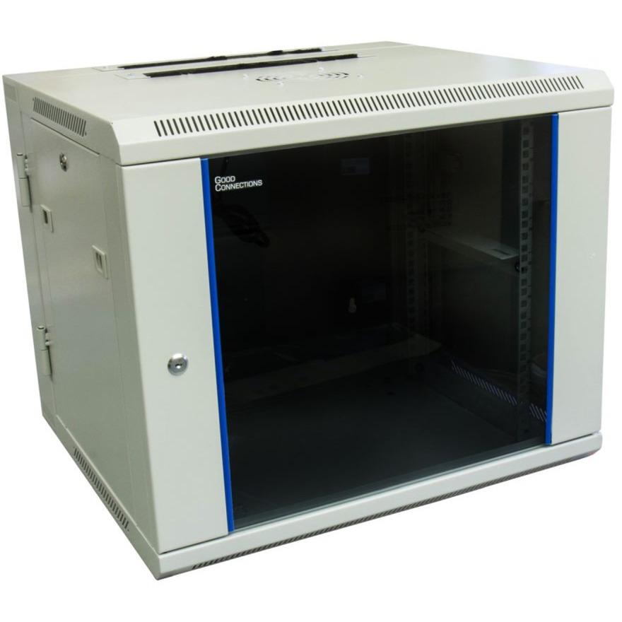 GC-R0010 estante 9U Bastidor de pared Azul, Gris, Armario IT