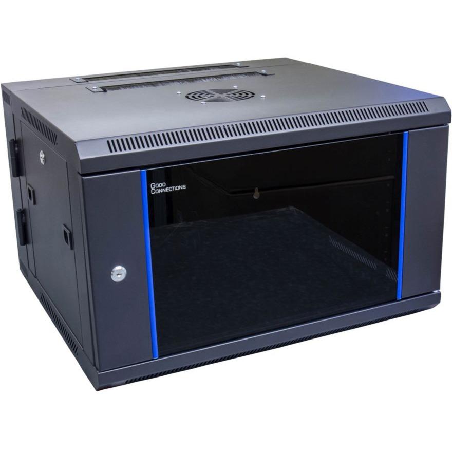 GC-R0012 estante 6U Bastidor de pared Negro, Azul, Armario IT