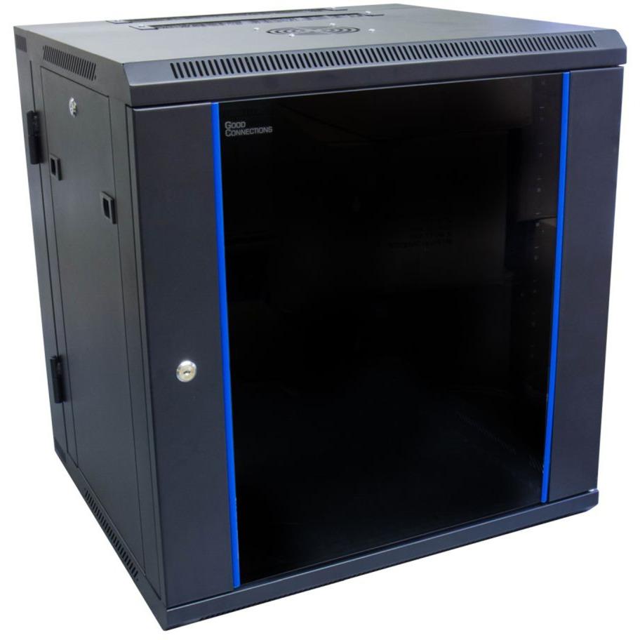 GC-R0014 armario rack 12U Bastidor de pared Negro, Azul, Armario IT