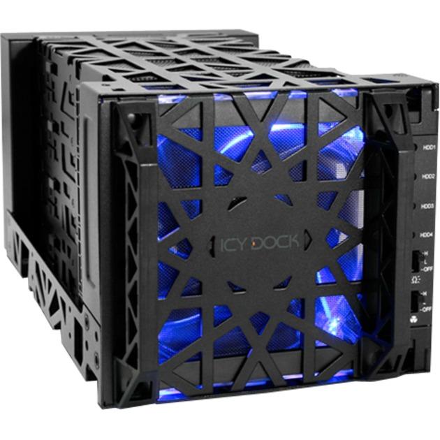 """Black Vortex MB174U3S-4SB Carcasa de disco duro/SSD 3.5"""" Negro, Chasis intercambiable"""