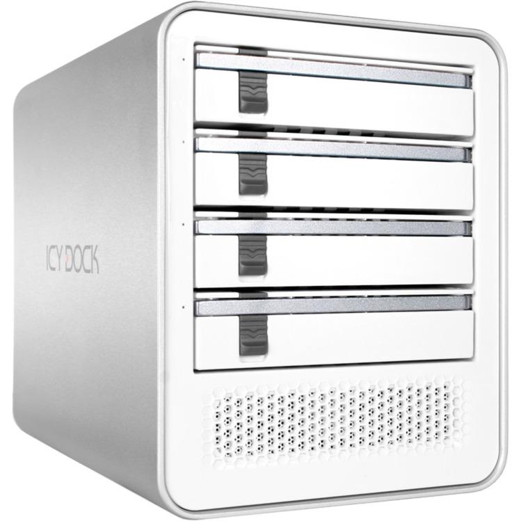 "ICYCube Carcasa de disco duro/SSD 2.5/3.5"" Plata, Color blanco, Caja de unidades"