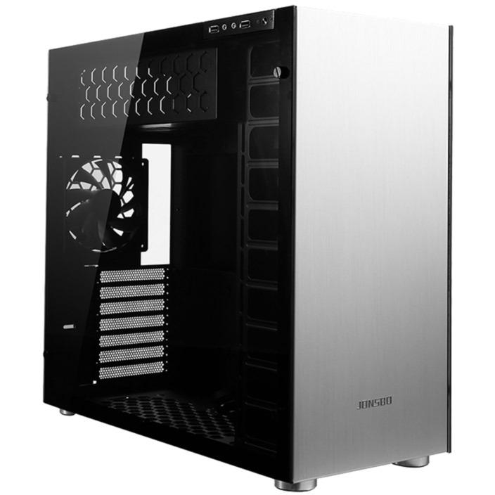 C4 Full-Tower Plata carcasa de ordenador, Cajas de torre