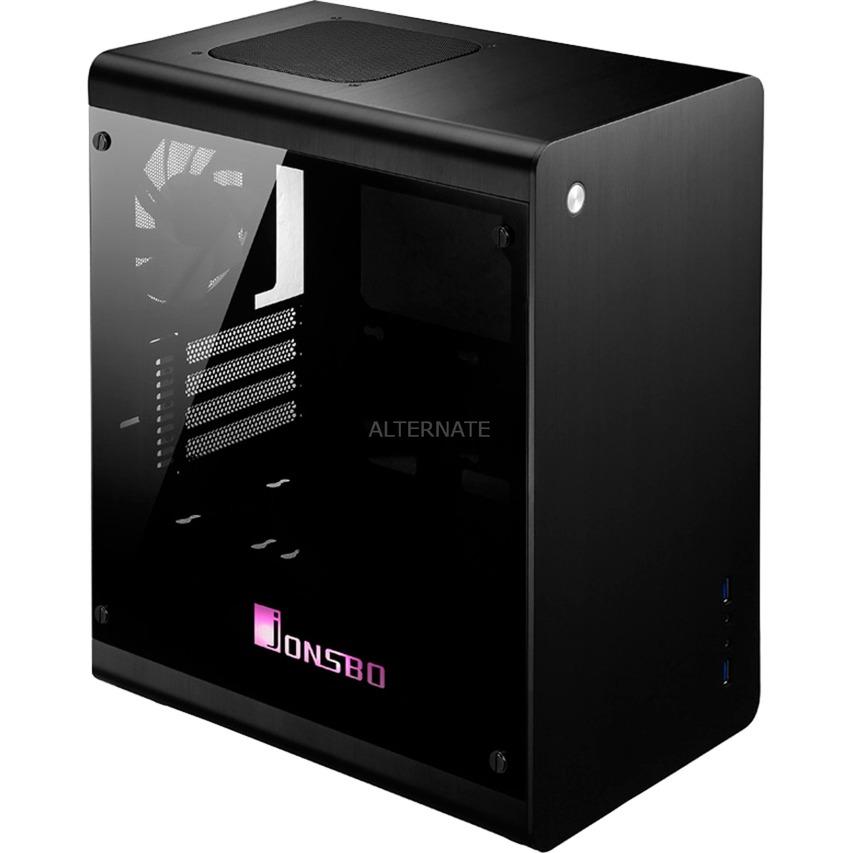 JB-RM3 B-RGB Midi-Tower Negro carcasa de ordenador, Cajas de torre