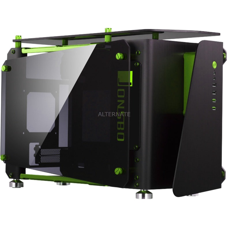 MOD1-MINI ITX-Tower Negro, Verde, Cajas de torre