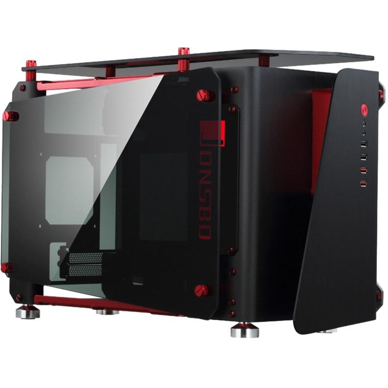 MOD1-Mini ITX-Tower Negro, Rojo, Caja de sobremesa