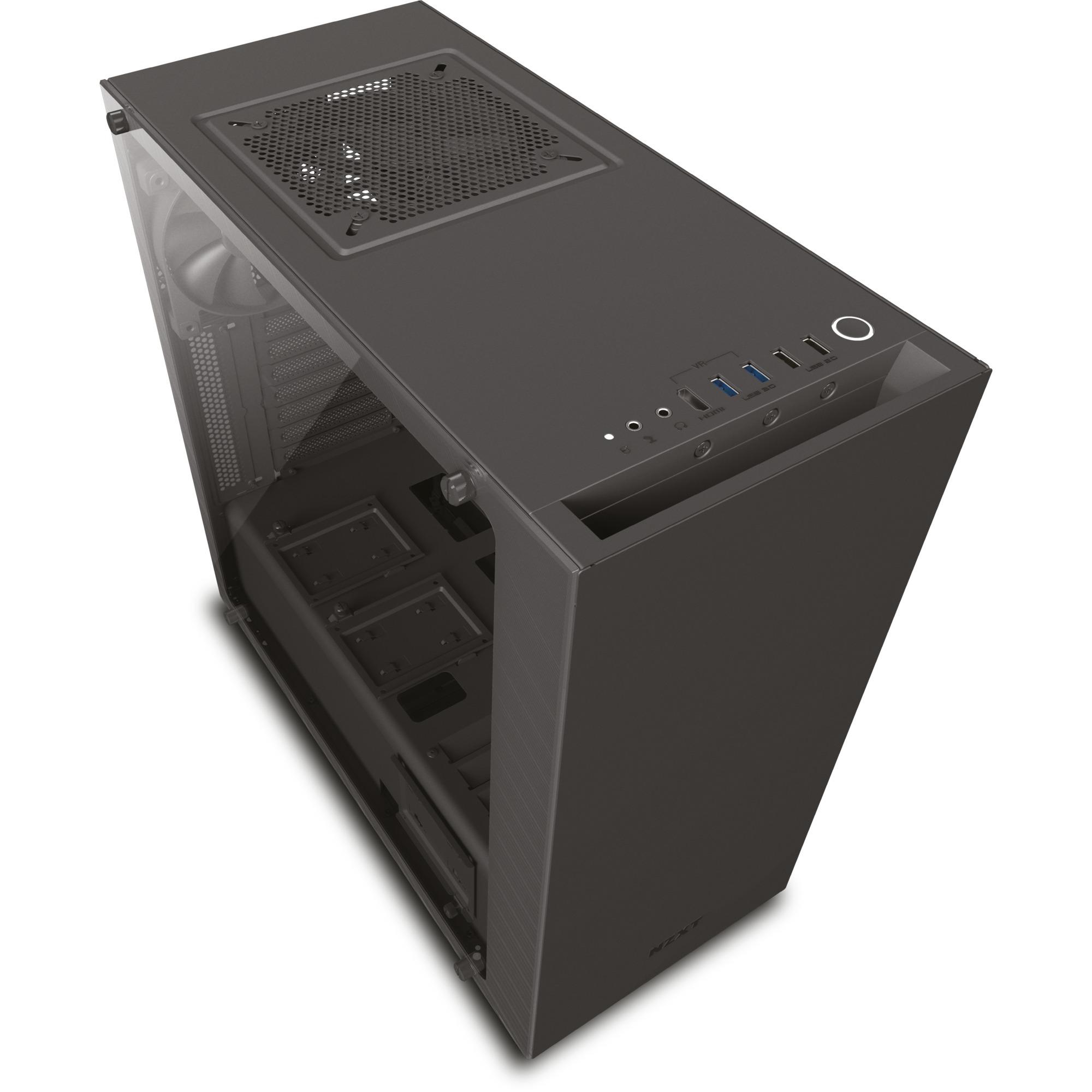 340 Elite Midi-Tower Negro carcasa de ordenador, Cajas de torre