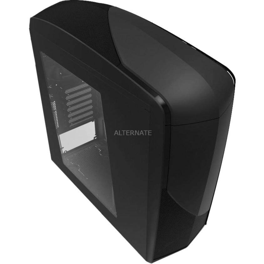 CA-PH240-B7 Midi-Tower Negro carcasa de ordenador, Cajas de torre