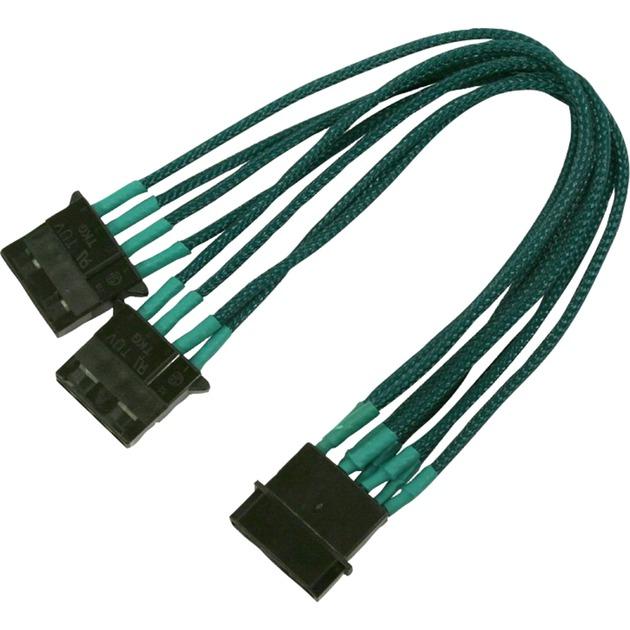 4-Pin Molex Y 2x 4-Pin Molex 1x 4-Pin Molex Negro, Cable Y