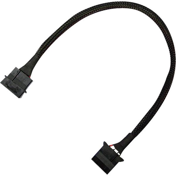 900100010 adaptador de cable 4-pin molex Negro, Cable alargador