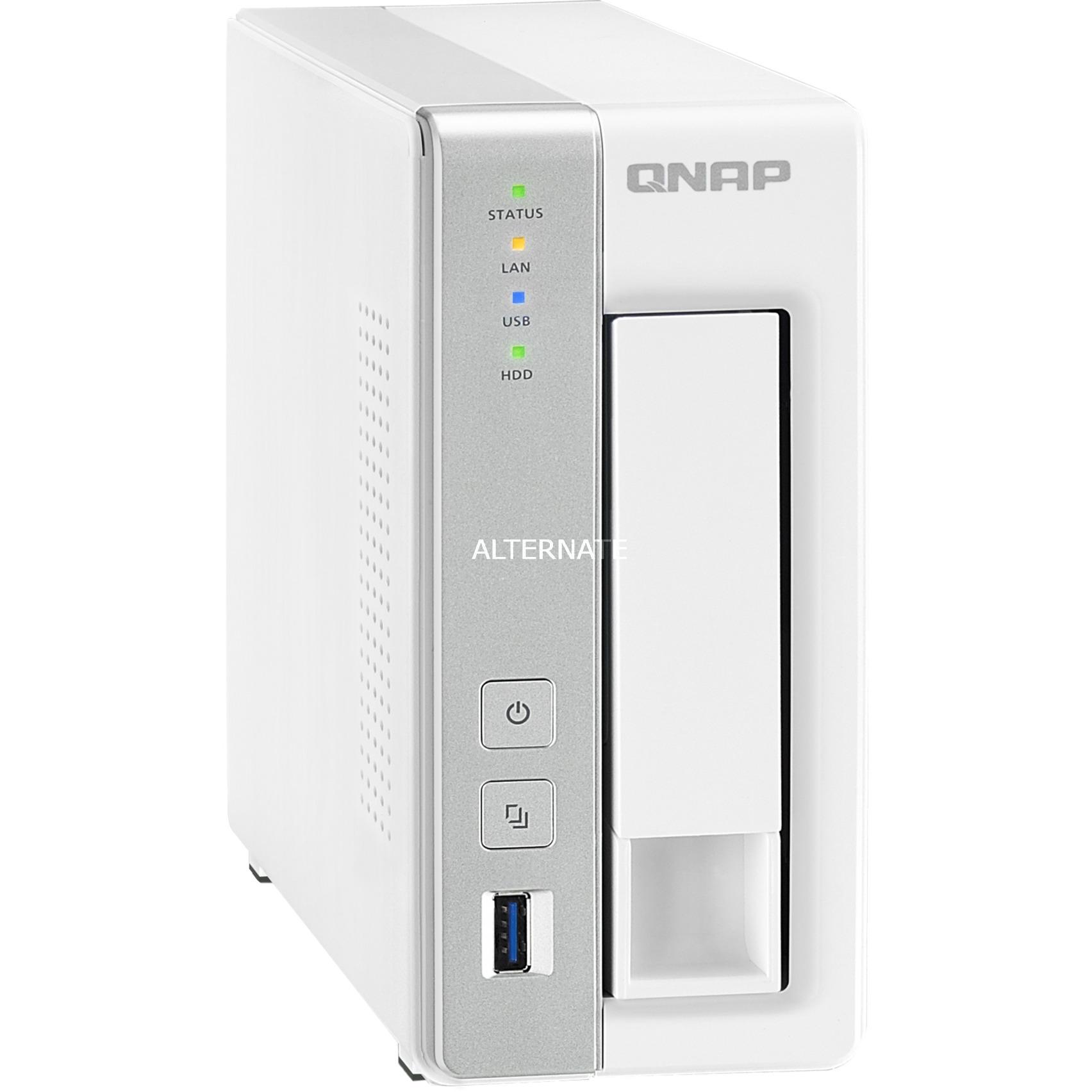 TS-131P NAS Torre Ethernet Gris, Blanco servidor de almacenamiento