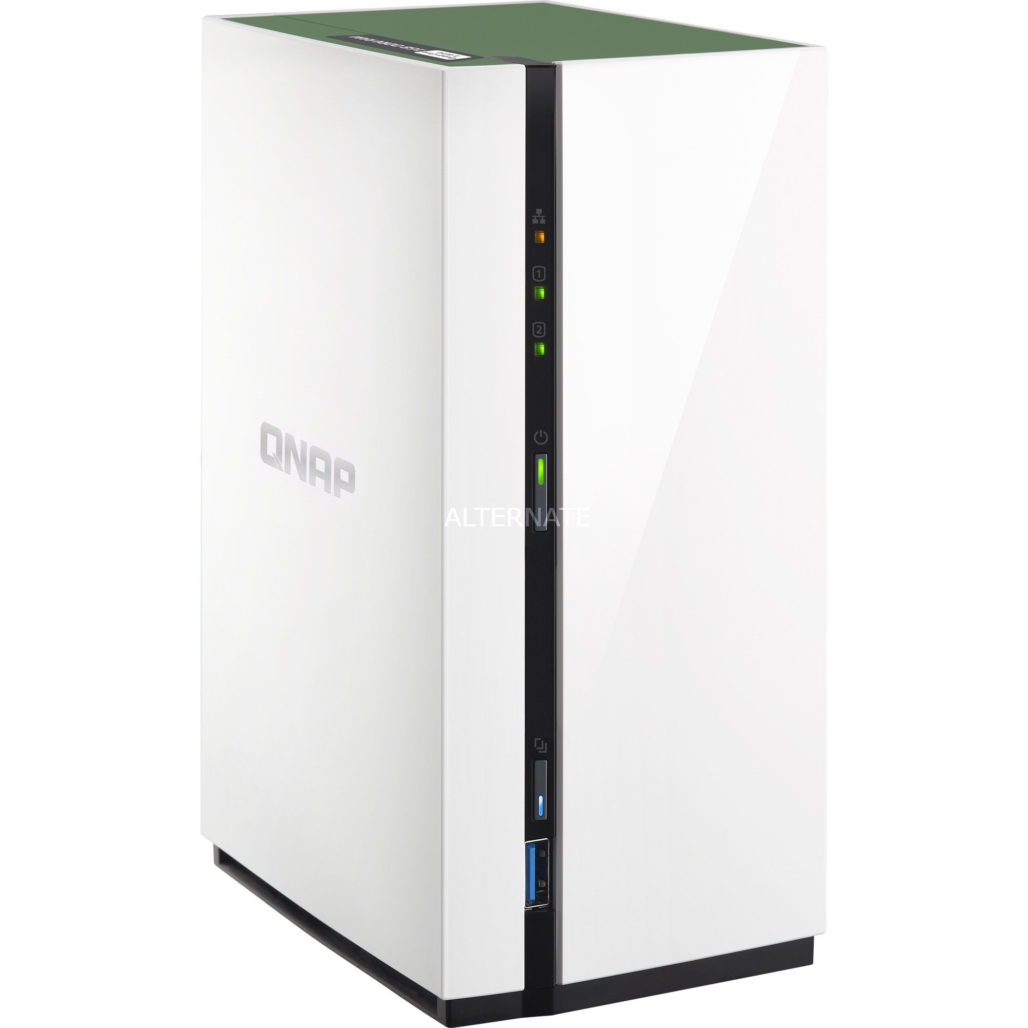 TS-228A NAS Mini Tower Ethernet Blanco servidor de almacenamiento
