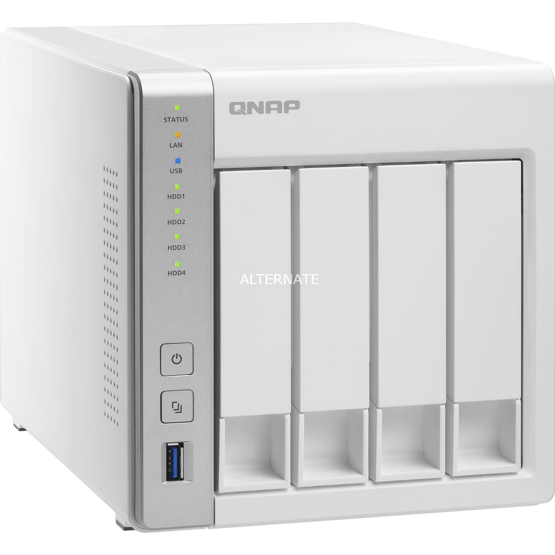 TS-431P NAS Torre Ethernet Blanco servidor de almacenamiento