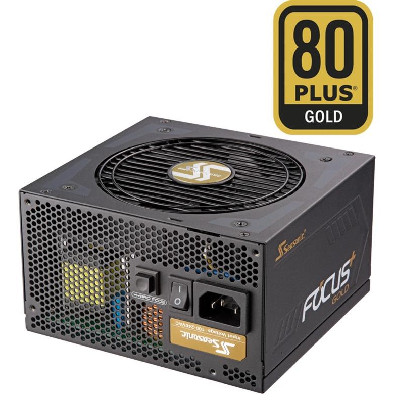 FOCUS Plus 650 Gold 650W ATX Negro unidad de fuente de alimentación, Fuente de alimentación de PC