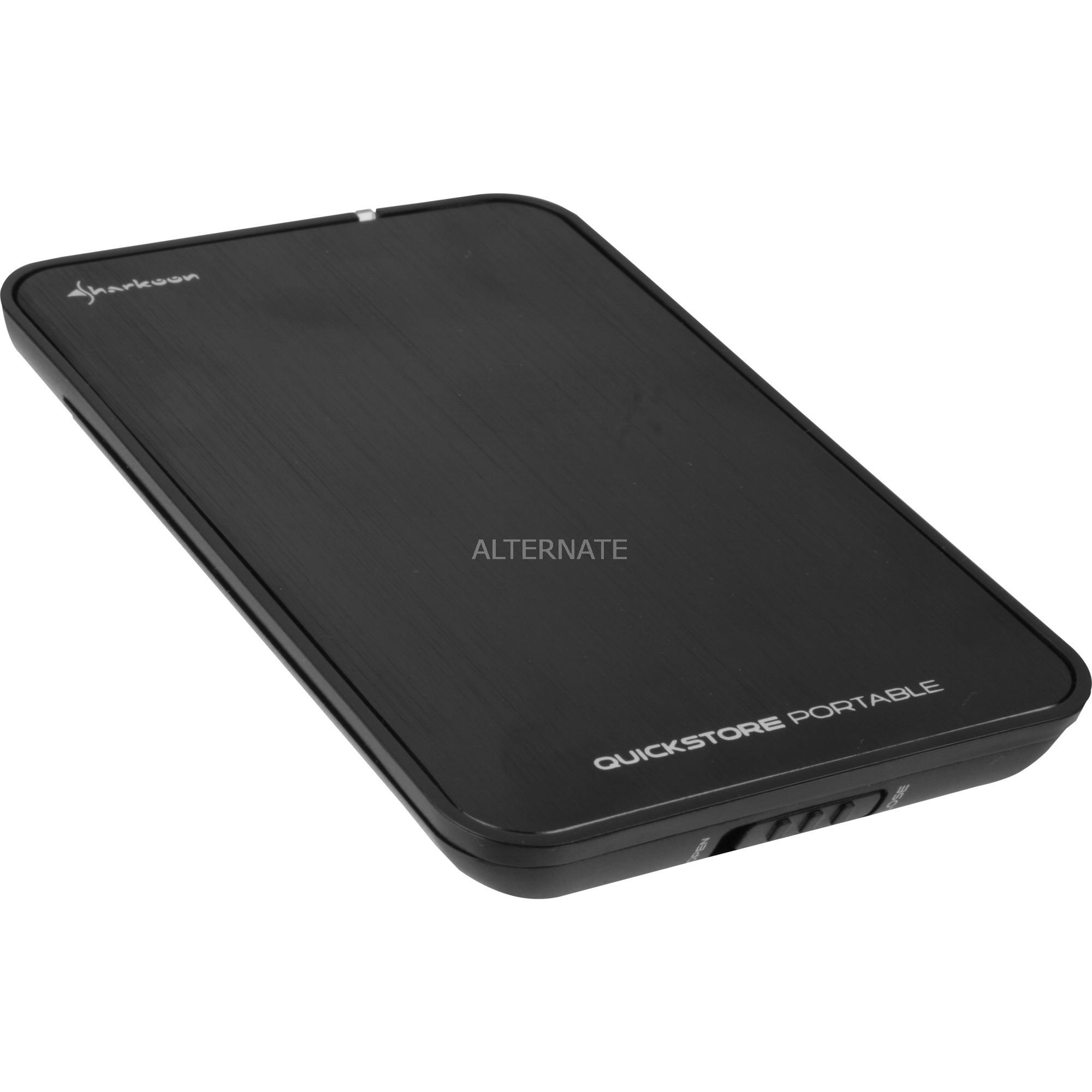 "4044951009220 caja para disco duro externo 2.5"" Negro USB con suministro de corriente, Caja de unidades"