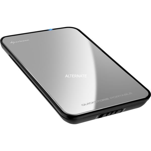 """4044951009237 caja para disco duro externo 2.5"""" Espejo, Plata USB con suministro de corriente, Caja de unidades"""