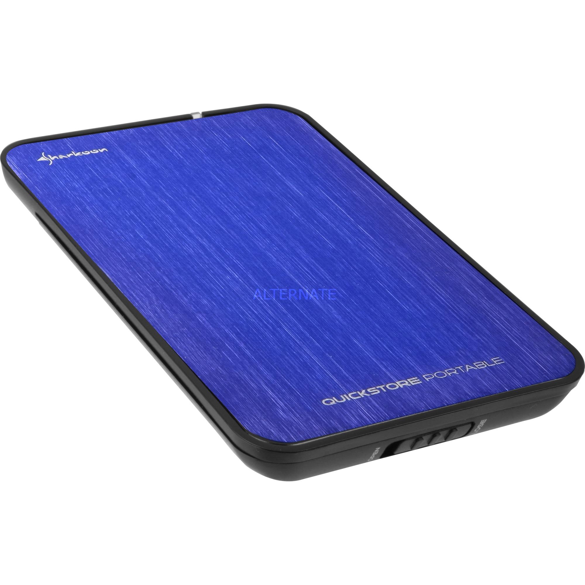 """QuickStore Portable 2.5"""" Negro, Azul, Caja de unidades"""