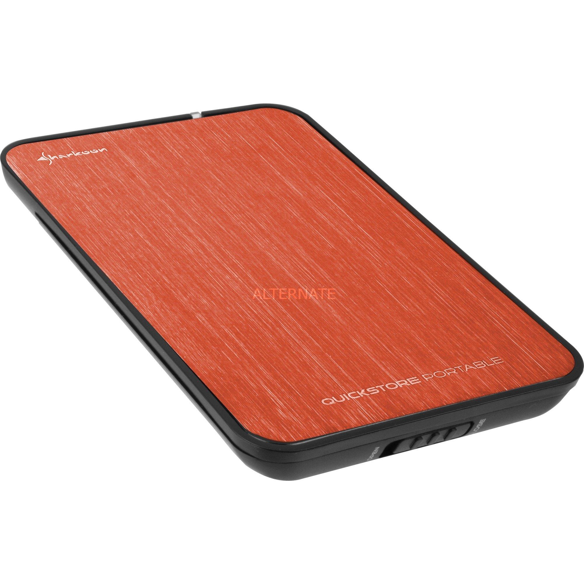 "QuickStore Portable 2.5"" Negro, Rojo, Caja de unidades"