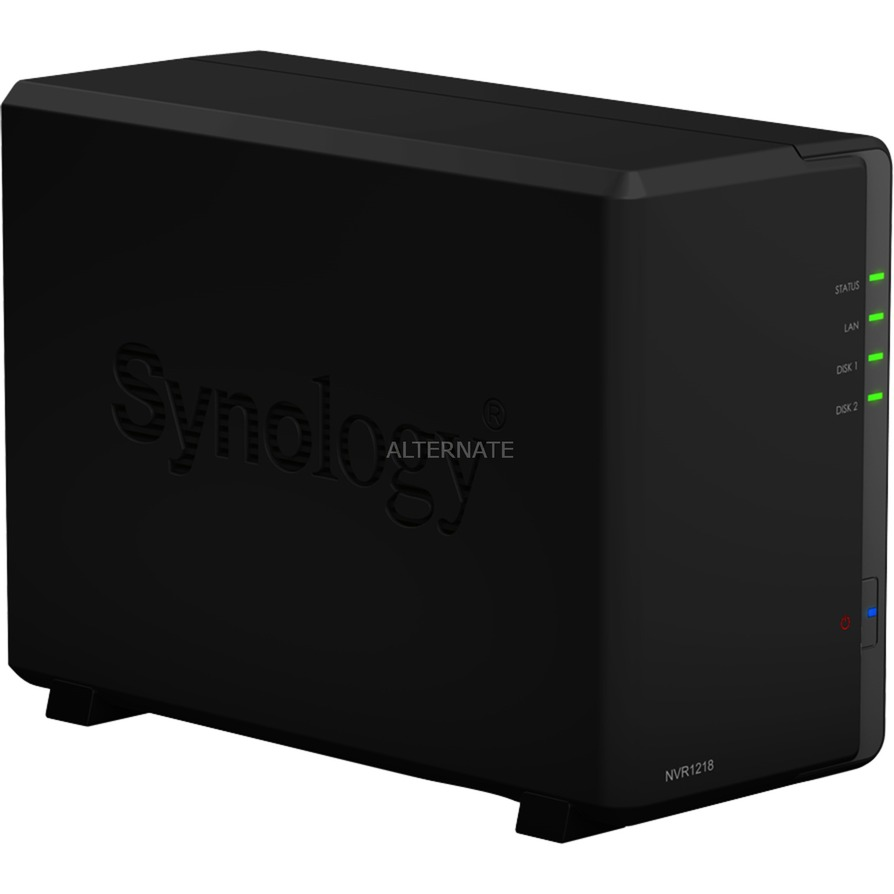 NVR1218 Grabadore de vídeo en red (NVR) Negro, Grabador de vídeo en red