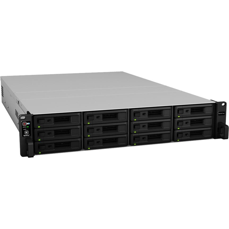 RackStation RS18017xs+ Ethernet Bastidor (2U) Negro, Gris NAS