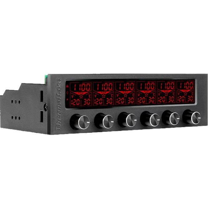 COMMANDER F6 controlador de velocidad de ventilador 6 canales Negro LCD, Control del ventilador