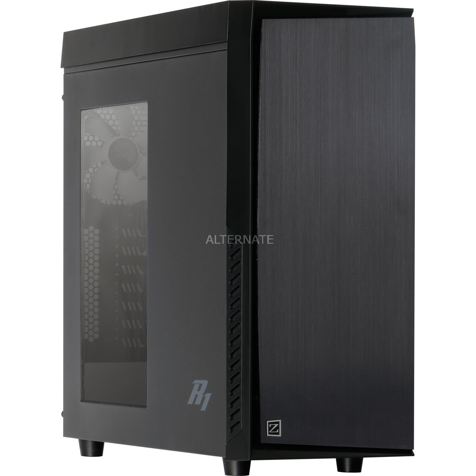 R1 carcasa de ordenador Midi-Tower Negro, Cajas de torre