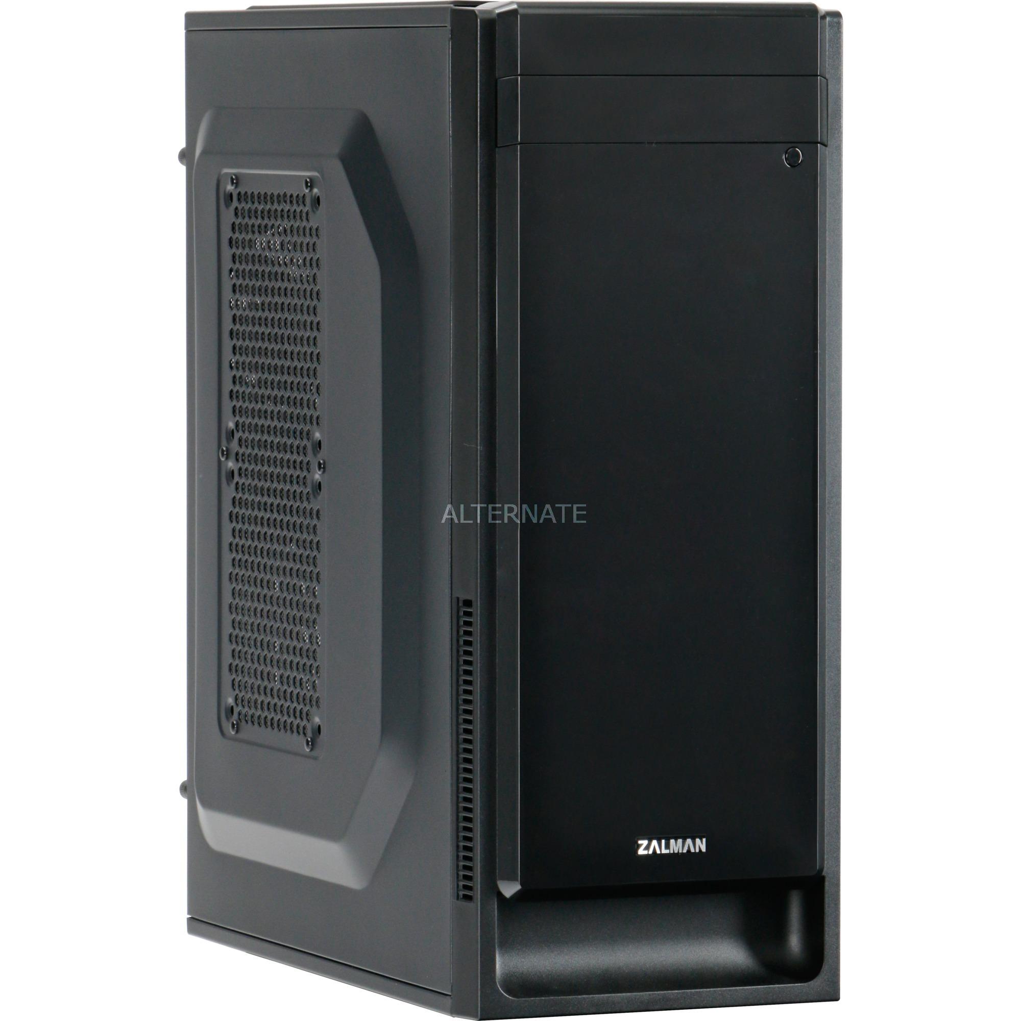 T2 PLUS carcasa de ordenador Mini-Tower Negro, Cajas de torre