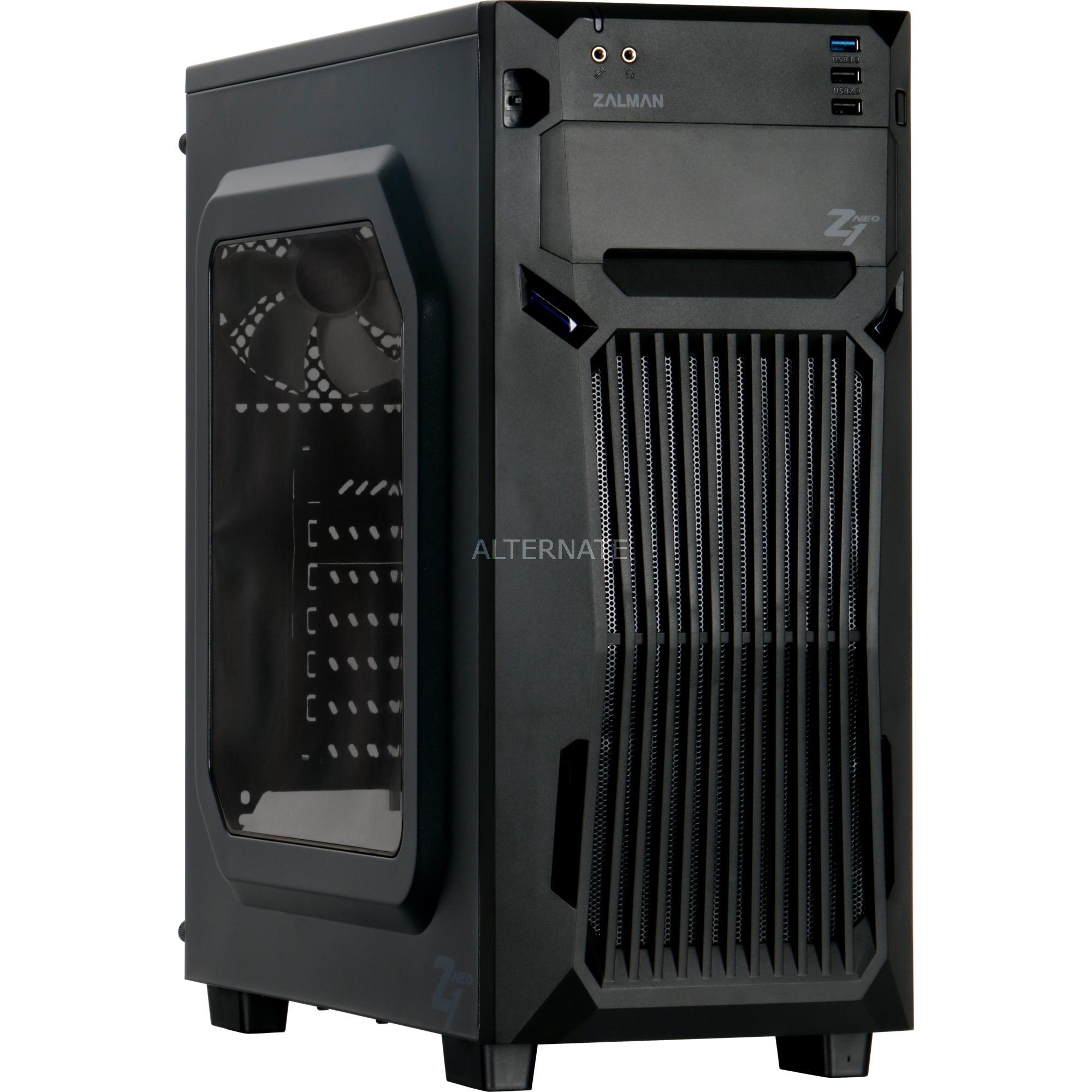 Z1 NEO carcasa de ordenador Midi-Tower Negro, Cajas de torre