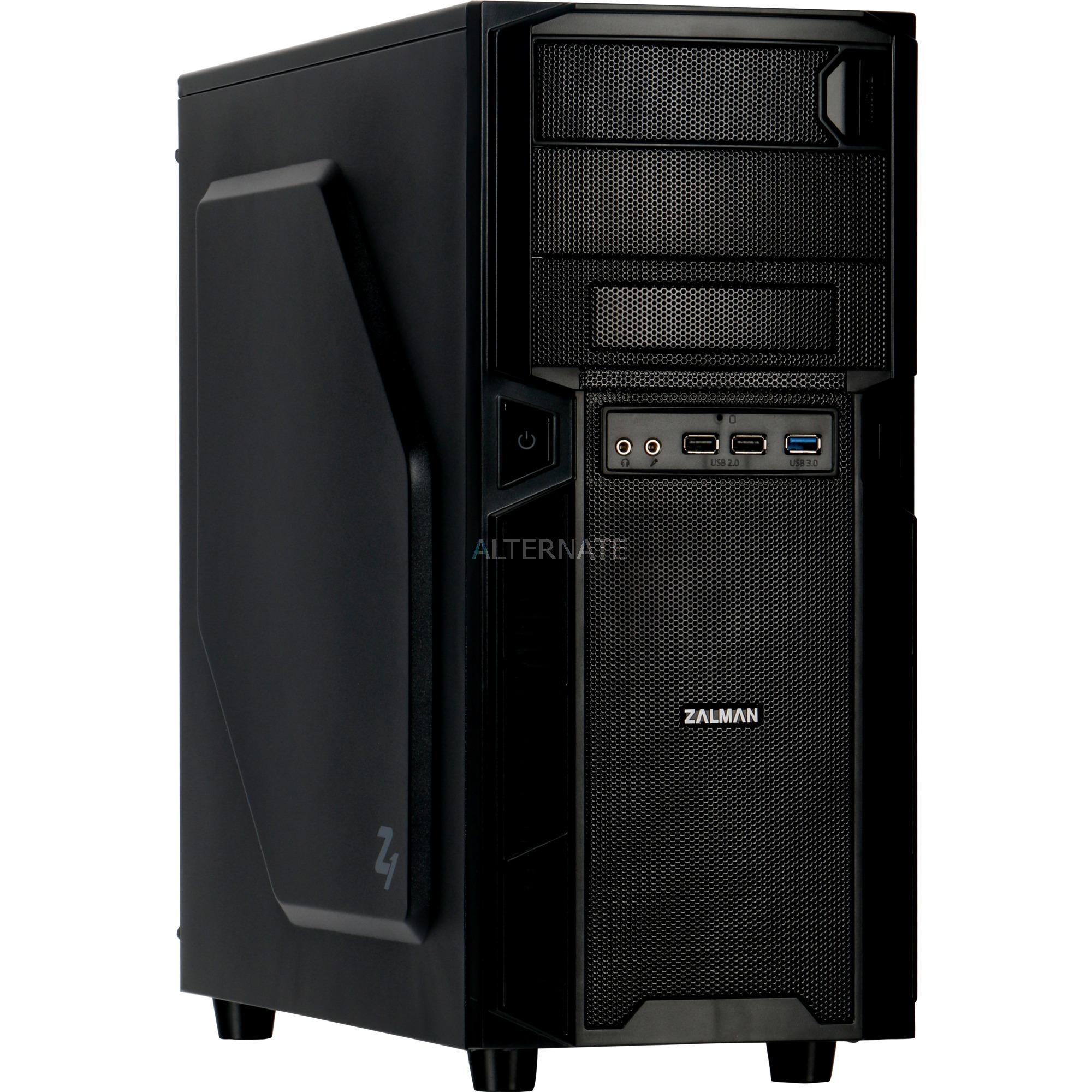 Z1 carcasa de ordenador Midi-Tower Negro, Cajas de torre