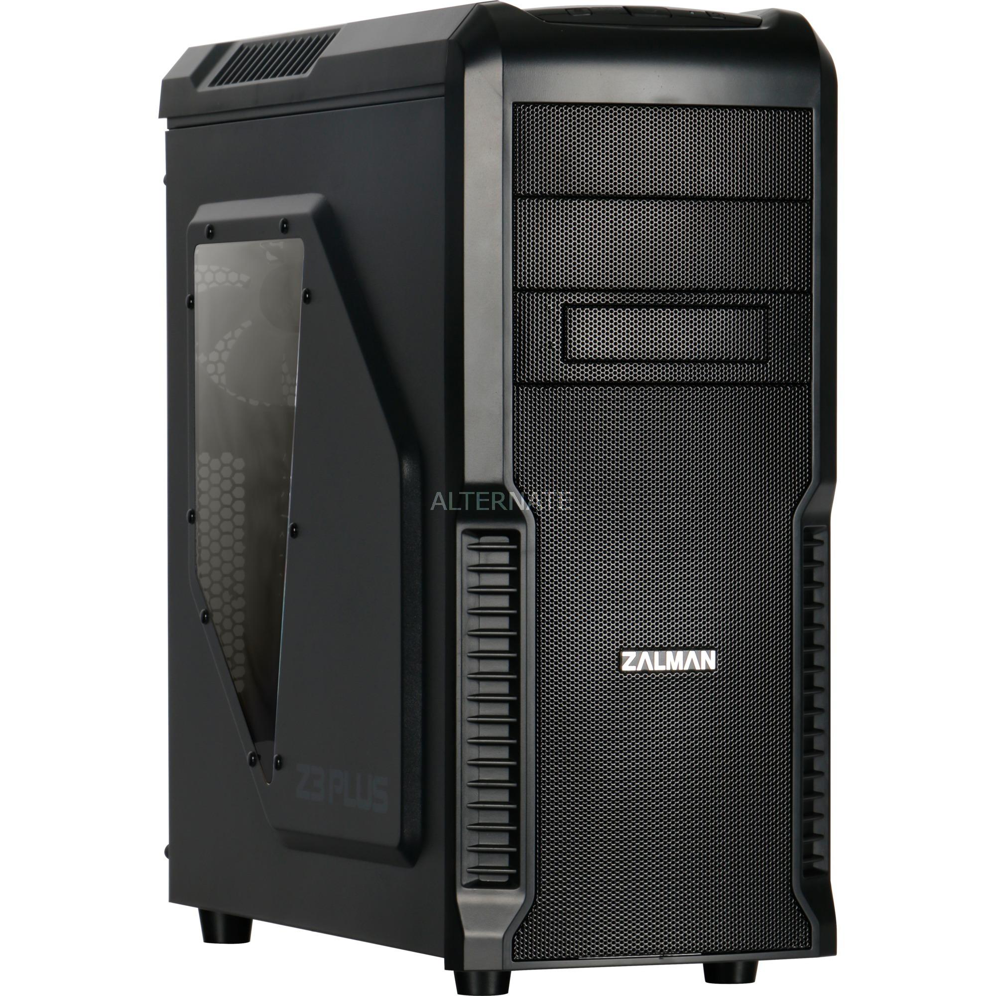 Z3 Plus carcasa de ordenador Midi-Tower Negro, Cajas de torre