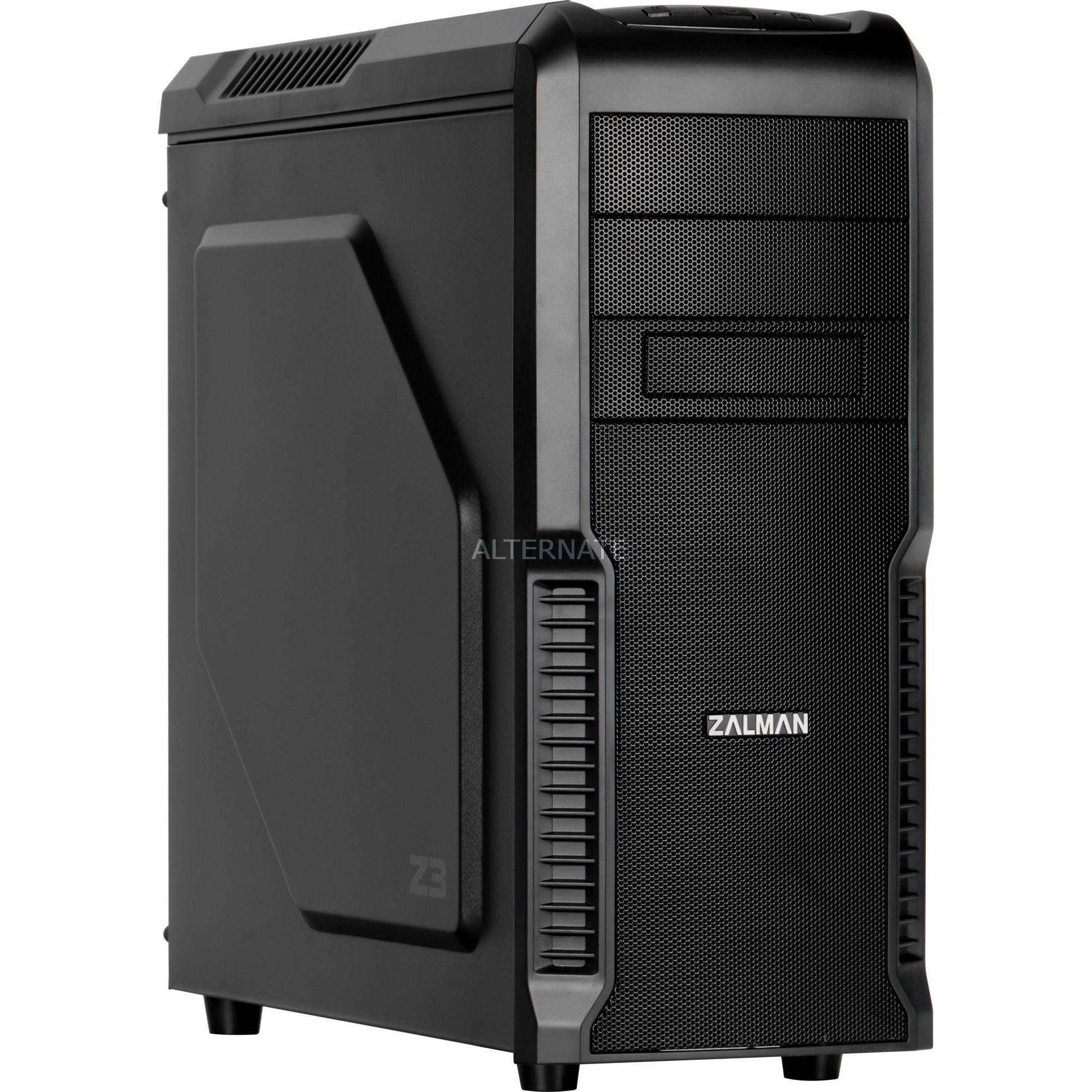 Z3 carcasa de ordenador Midi-Tower Negro, Cajas de torre
