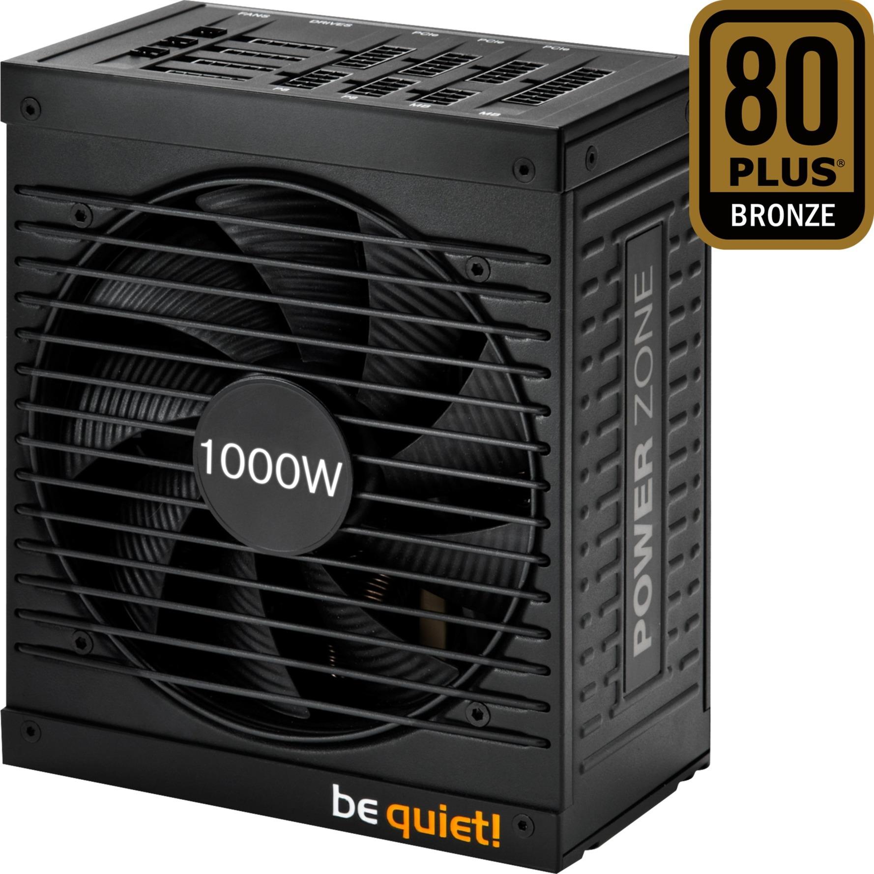 1000W Power Zone 1000W ATX Negro unidad de fuente de alimentación, Fuente de alimentación de PC