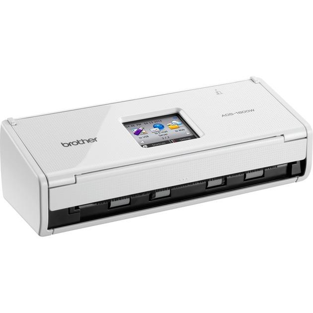 ADS-1600W ADF scanner 600 x 600DPI A4 Negro, Blanco escaner, Escáner de alimentación de hojas