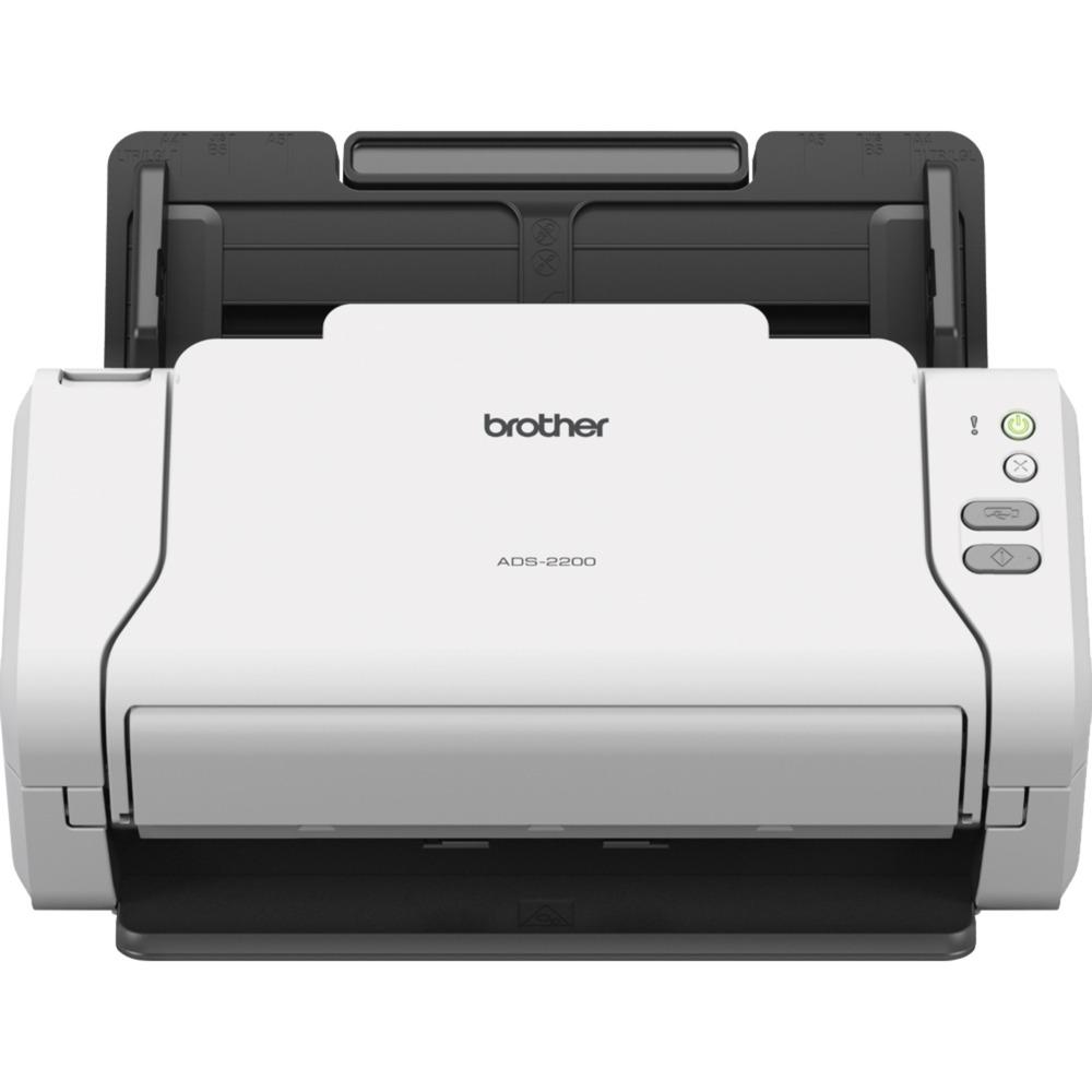 ADS-2200 escaner 600 x 600 DPI Escáner con alimentador automático de documentos (ADF) Negro, Blanco A4, Escáner de alimentación de hojas