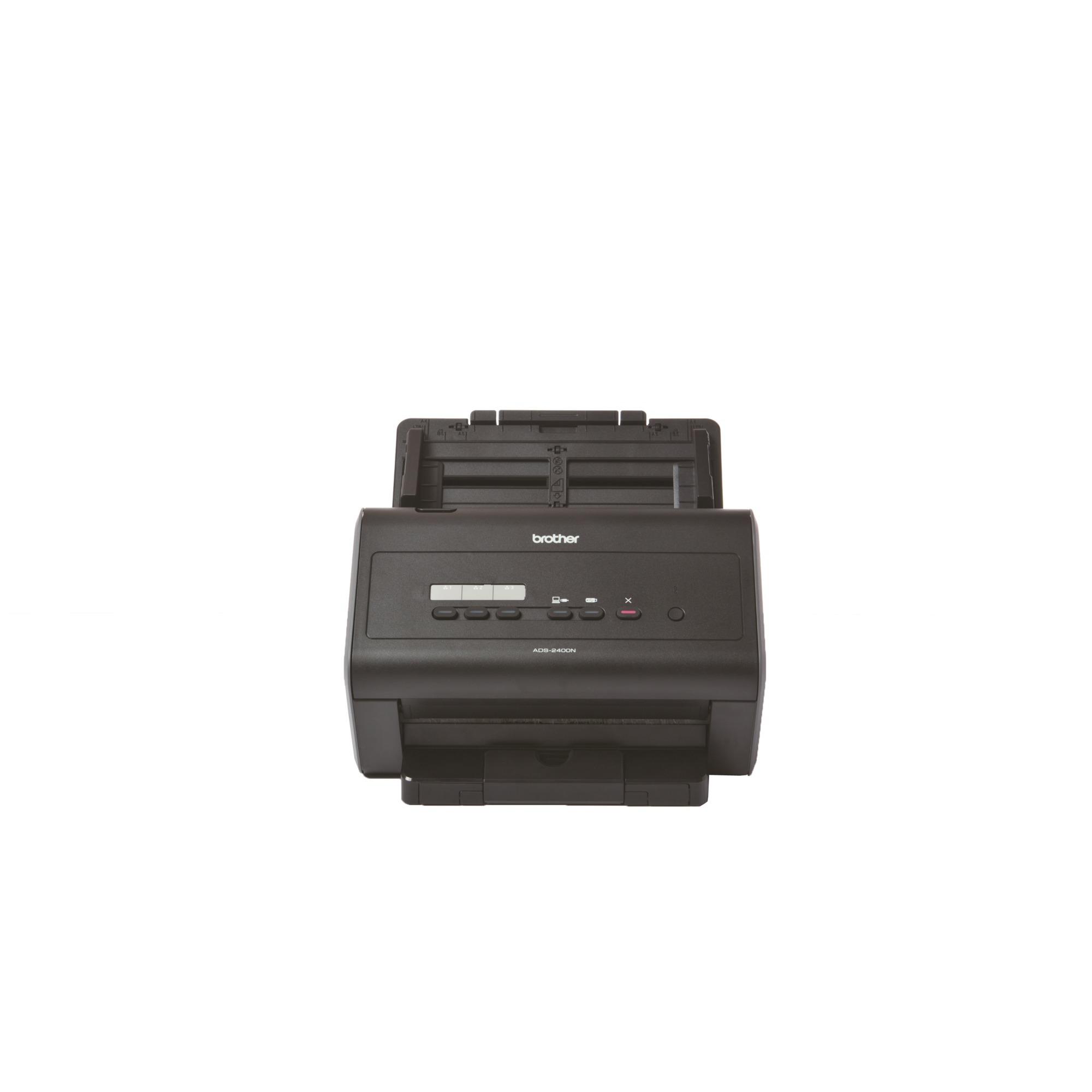 ADS-2400N escaner 600 x 600 DPI Escáner con alimentador automático de documentos (ADF) Negro A4, Escáner de alimentación de hojas