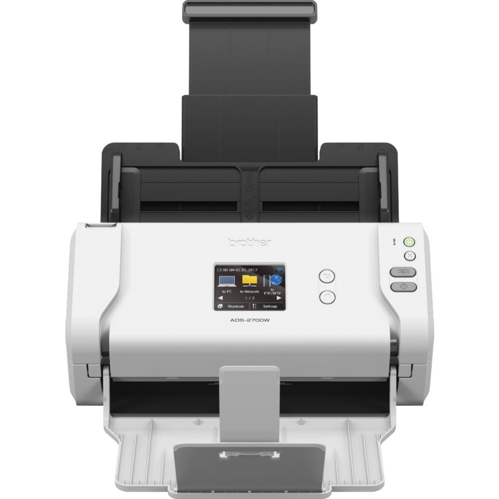 ADS-2700W escaner 600 x 600 DPI Escáner con alimentador automático de documentos (ADF) Negro, Blanco A4, Escáner de alimentación de hojas