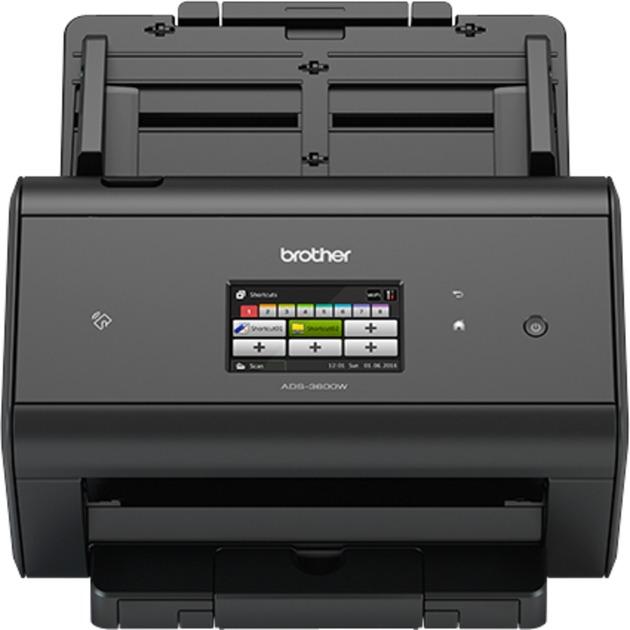 ADS-3600W escaner 600 x 600 DPI Escáner con alimentador automático de documentos (ADF) Negro A4, Escáner de alimentación de hojas
