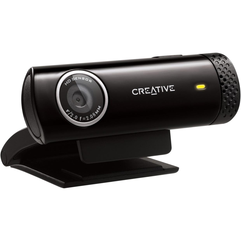 Live! Cam Chat HD 1280 x 720Pixeles USB 2.0 Negro cámara web, Webcam