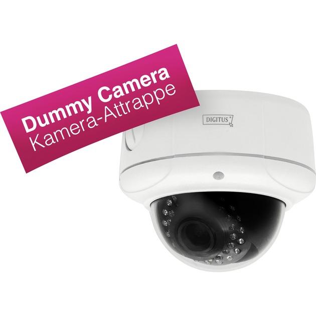 DN-16043-DUMMY Blanco Almohadilla cámara de seguridad ficticia, Carcasa de cámara