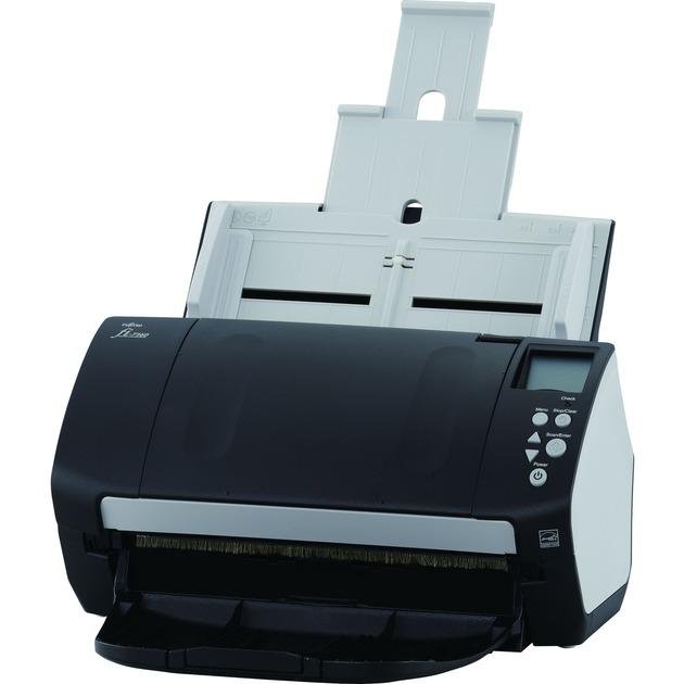 fi-7180 Escáner con alimentador automático de documentos (ADF) 600 x 600DPI A4 Negro, Blanco, Escáner de alimentación de hojas