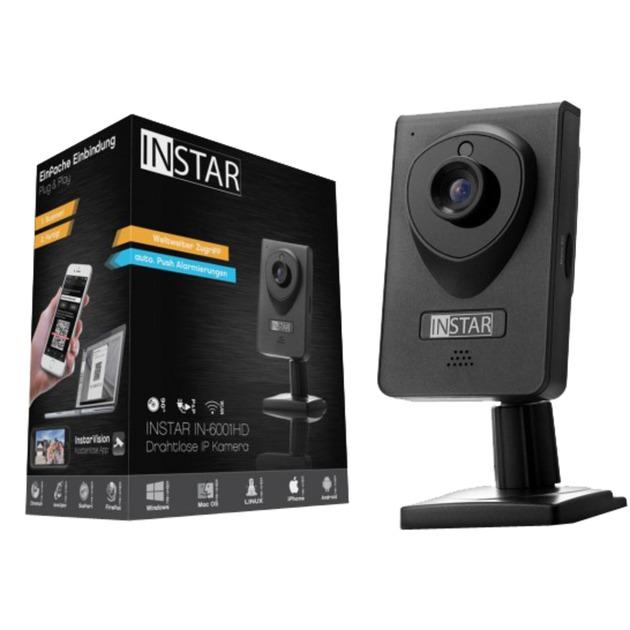 IN-6001HD Cámara de seguridad IP Interior Cubo Negro 1280 x 720Pixeles, Cámara de red