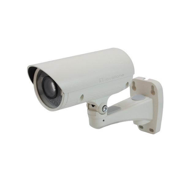 Cámara IP con Zoom, 2-Megapixel, Exteriore, 802.3af PoE, día/noche, indicadores LED IR, 10x Optical Zoom, Cámara de vigilancia