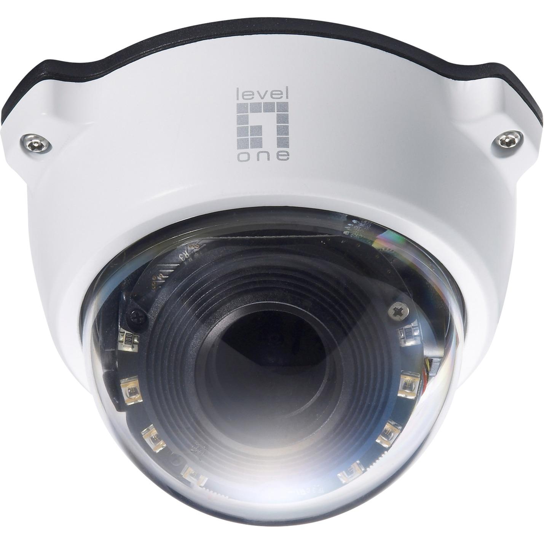 Cámara de red domo Zoom, 2-Megapixel, 802.3af PoE, día/noche, indicadores LED IR, 3x Optical Zoom, WDR, Exteriore