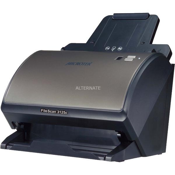 FileScan 3125c 600 x 600DPI A4 Negro, Escáner de alimentación de hojas