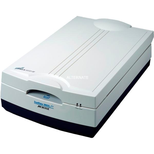ScanMaker 9800XL Plus Film/slide scanner 1600 x 3200DPI A3 Negro, Gris, Escáner plano