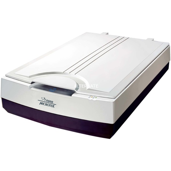 XT6060 Escáner de cama plana 600 x 600DPI A3 Negro, Color blanco, Escáner plano