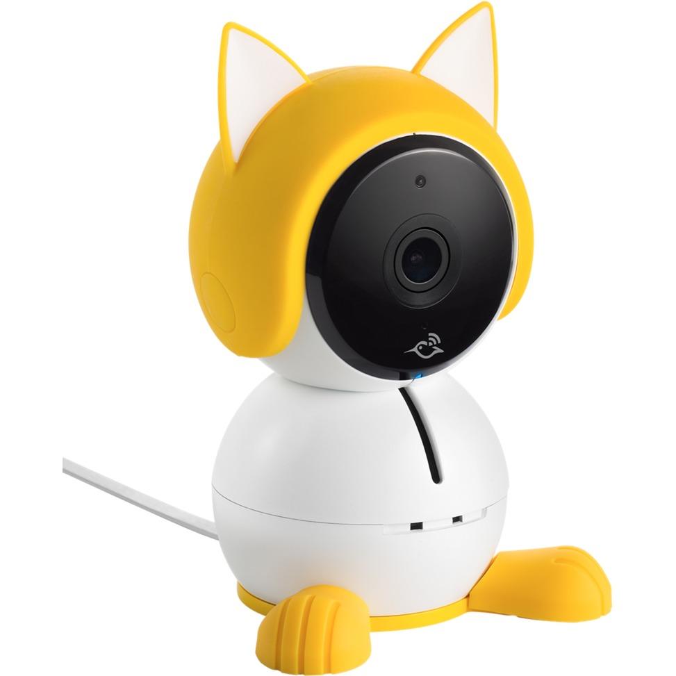 ABA1000 IP security camera Interior Cubo Blanco, Amarillo, Decoración