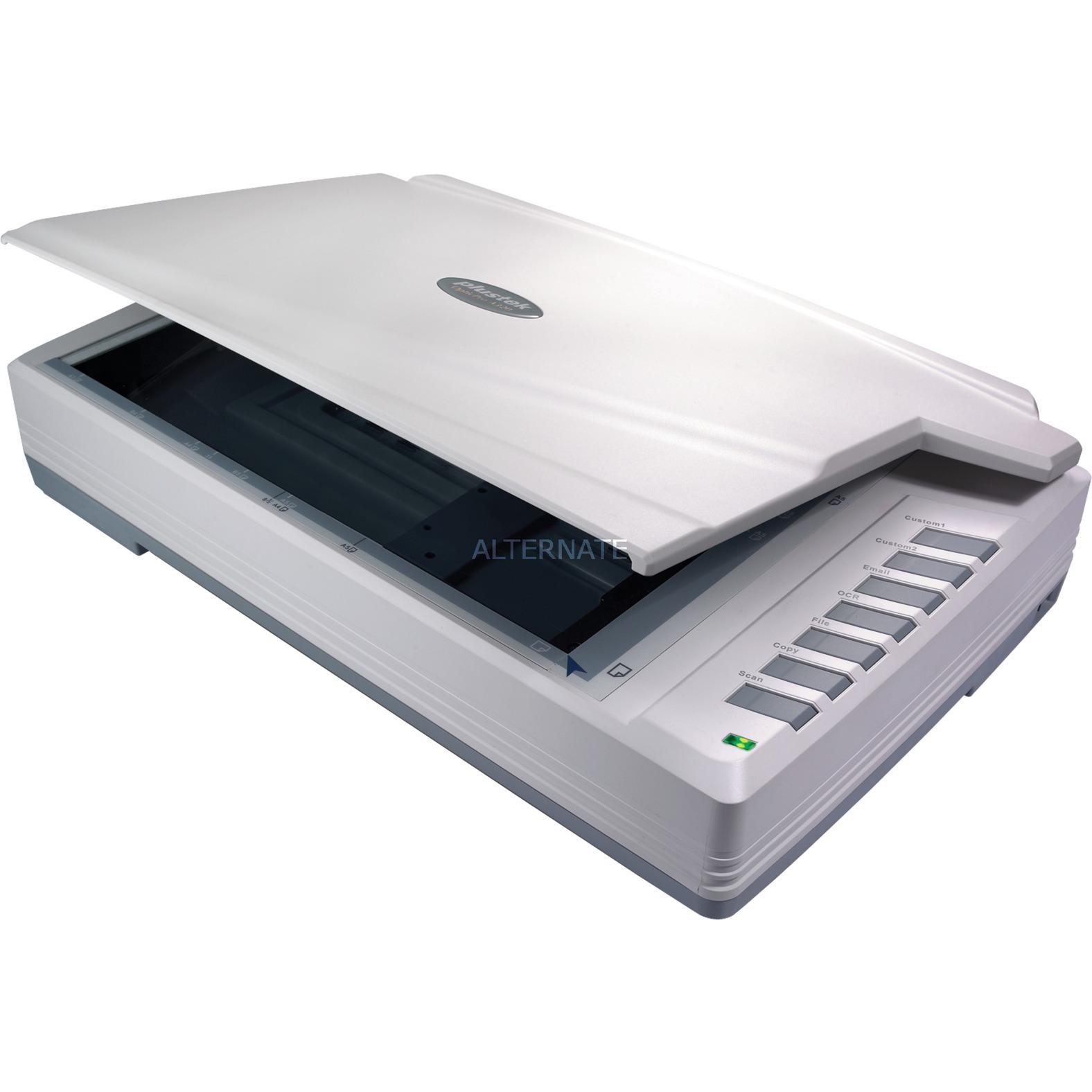 OpticPro A320L 1600 x 1600 DPI Escáner de cama plana Gris A3, Escáner plano