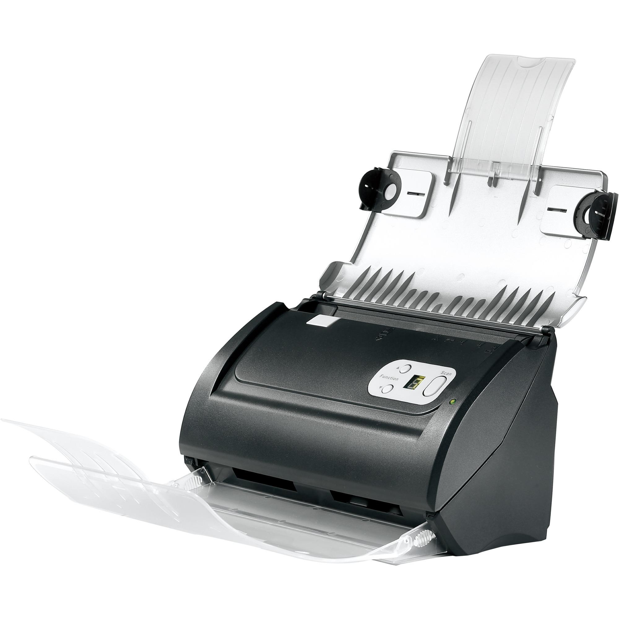 SmartOffice PS186 Escáner con alimentador automático de documentos (ADF) 600 x 600DPI A4 Negro, Plata escaner, Escáner de alimentación de hojas